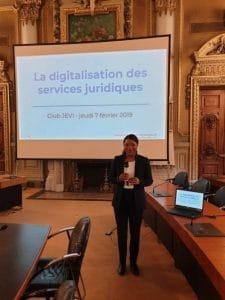 atelier CCI Lyon Digitalisation des services juridiques février 2019 Glynnis Makoundou Legaltech Strategie